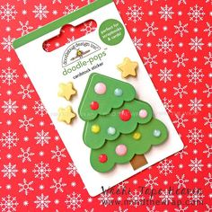 "Christmas Tree Sticker - Doodlebug Design ""Sweet Spruce"" Dimensional Doodle-Pops - 4 Layers plus 3 D, Whimsical Christmas Trees, Pop 4, Stocking Decorating, Decorating Ideas, Scrapbook Designs, Scrapbook Cards, Washi, Card Stock"