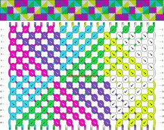 friendship bracelet pattern- this one is gonna be difficult