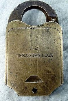 RestraintsBlog: US Treasury Lock - Heavy Brass Clarke Combo Padlock