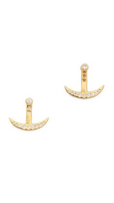 Gorjana Crescent Shimmer Ear Jackets #Shopbop