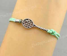 Tennis Racket Charm Bracelet Racquetball by TheSophiasBoutique, $1.99
