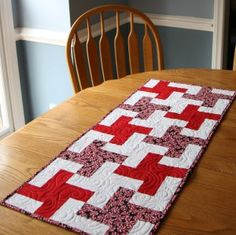 """""""Simple Pinwheel"""" Quilt and Table Runner  not exact information for Instructions but might be able to figure it out."""