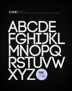 Code is a beautiful and simple sans serif font available in light and bold versions. Its simplicity makes it effective as a headline font, and pairing the bold and light versions together can make a very visually interesting design.