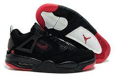 more photos ff844 21d25 Air Jordans 4 IV Retro Men Shoes in Black and Red Air Jordan Rétro, All