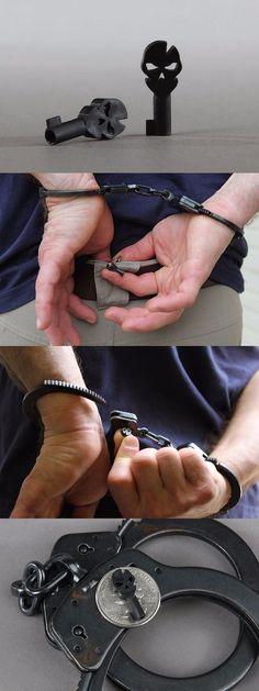 ITS Logo EDC Everyday Carry Gear Handcuff Key Black