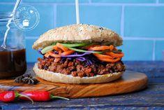 Pittig Oosters gehakt voor op een broodje | Eetspiratie Sloppy Joe, Multicooker, Pulled Pork, Salmon Burgers, Lunches, Tapas, Hamburger, Slow Cooker, Chicken Recipes