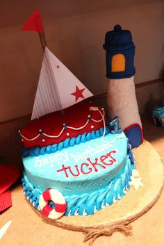 Tucker's Nautical Cake