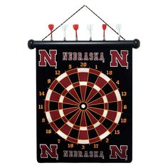 Nebraska Cornhuskers Magnetic Dart Board Set