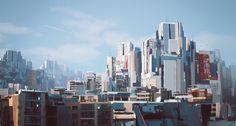 ArtStation - Near Future Metropolis, Ronny Schmidt