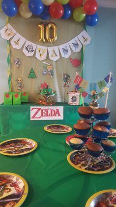 Zelda Birthday 11th Ideas Nintendo Party Kid Parties Clays
