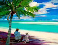The artwork for the Artisan Range of Island Store products is created by internationally acclaimed contemporary artist, Shari Erikson, who has been privately commissioned by both US and Liat. Caribbean Culture, Caribbean Art, Hawaiian Art, Tropical Art, Tropical Paintings, Boat Painting, Surf Art, Beach Art, African Art