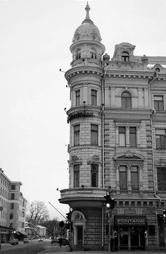 There are still left some beautiful old classic buildings in downtown Turku, Finland.