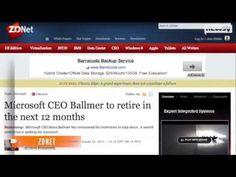 Microsoft CEO Steve Ballmer Retiring Earlier Than Planned