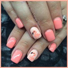 Flamingo Nails by Trai-Sea's Escape Spa