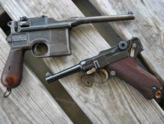 "armaswords: ""⠀⠀⠀⠀⠀⠀ ⠀⠀⠀⠀⠀⠀⠀⠀⠀⠀ German Ladies MΩDΣL: C96 ""Broomhandle""/ Cal. 7.63x25 mm Mauser MΩDΣL: Luger P08 / Cal. 9 mm..."