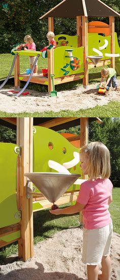 Wasserspiel für Kinder im Garten Diy mit Kindern Pinterest - wasserspiel fur kinder im garten