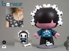"""Bones"" Custom QiQi for Creo Design at ToyConUk 2013."