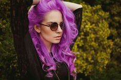 Hair Color Crazy shared by on We Heart It Purple Hair Tumblr, Dark Purple Hair, Bright Purple, Purple Haze, Lavender Hair, Lilac Hair, Violet Hair, Mermaid Hair, Rainbow Hair