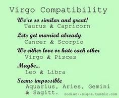 What sign is compatible with a virgo
