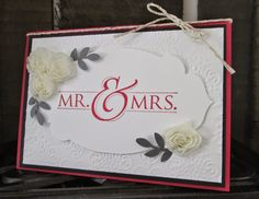 Seeing Double with Mr and Mrs stamp and the Expressions Thinlits teamed with Hearts a Flutter from Stampin' Up!