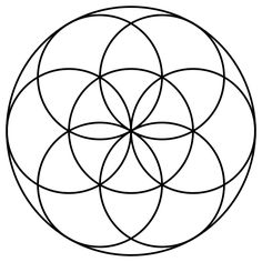 "The ""Seed of Life"" is formed from seven circles being placed with sixfold symmetry, forming a pattern of circles and lenses, which act as a basic component of the Flower of Life's design."