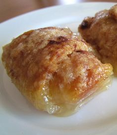 7-Up Apple Dumplings--- like the ones my MIL makes! Not anywhere close to healthy, but a wonderfully EASY indulgence!