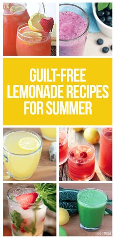 The BEST skinny lemonades for summer!