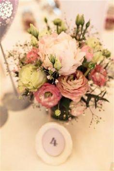 Tischnummer Vintage Blumen Pfingstrosen Tische Hochzeit Zug