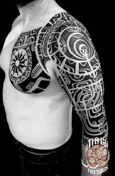 Polynesian Sleeves Tattoo Design