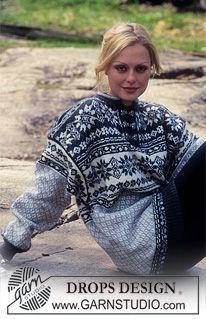 Free knitting patterns and crochet patterns by DROPS Design Fair Isle Knitting, Free Knitting, Pull Jacquard, Norwegian Knitting, Drops Design, Nordic Sweater, Crochet Wool, Fair Isle Pattern, Sweater Knitting Patterns