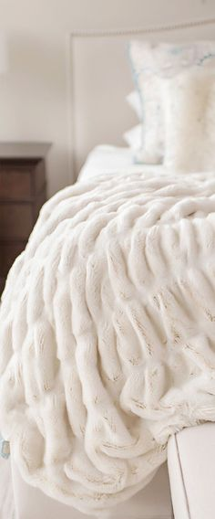 Create a tranquil sanctuary with this best-selling throw. The softest fabric available defines all the colors in the Couture Collection. #bedding #luxurybedding #designerbedding #bedroomideas #decoratingideas #masterbedroom #duvetcovers #comforters #luxe #glamorous