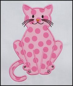 Kitty Applique - This and many other applique designs