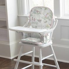 Kids Rocking Chair Pad in Pink Over the Moon Toile by Carousel Designs.