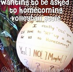 Who wouldn't say yes to this volleyball prom idea