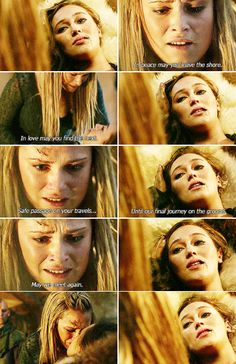 lexa and clarke... in peace may you leave the shore, in love may you find the next.