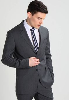 """Pier One. Care instructions:Dry clean only. Sleeve """" (Size Back """" (Size jacket """" (Size outer leg Business Men, Men's Wardrobe, Suit And Tie, Fabric Material, Mens Suits, Suit Jacket, Costumes, Legs, Grey"""