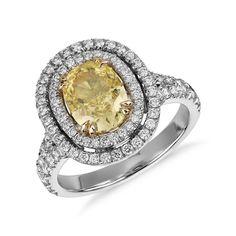 Fancy Light-Yellow Diamond Ring | Martha Stewart Weddings