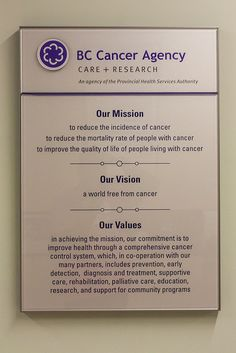 BC Cancer Agency: Mission, Vision, Values | Flickr - Photo Sharing!