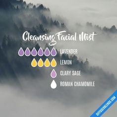 Cleansing Facial Mist Essential Oils Diffuser Blend ••• Buy dōTERRA essential oils online at www.mydoterra.com/suzysholar, or contact me suzy.sholar@gmail.com for more info.
