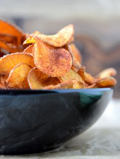 homemade bbq sweet potato chips // how sweet eats
