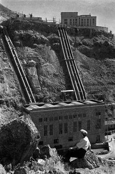 Water for Yerevan, 1938. Armenia's oldest power station, the Kanaker hydroelectric station. Armenia, northern edge of Yerevan