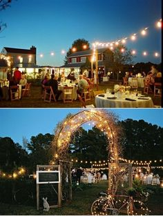 Intimate wedding.