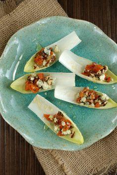 Authentic Suburban Gourmet: Apricot and Gorgonzola Endive Bites   Friday Night Bites