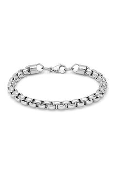 Stainless Steel Popcorn Chain Bracelet by Steeltime on @HauteLook