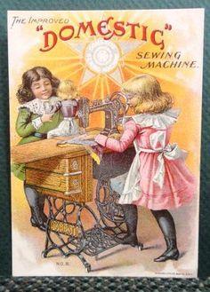 Victorian Trade Card Domestic Sewing Machine No 8