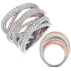 14K Two Tone Gold 6.47cttw Round Diamond Fashion Ring - http://finejewelrygalleria.com/jewelry/childrens-jewelry/14k-two-tone-gold-647cttw-round-diamond-fashion-ring-com/