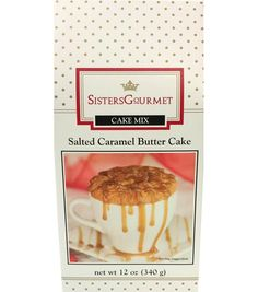 Sisters Gourmet Salted Caramel Butter Cake | Mug Recipes | Great Stocking Stuffers