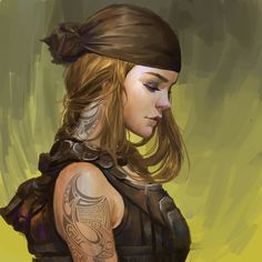ArtStation - Speedway, Wang No mucho - Cyberpunk/Shadowrun - Arte Digital Fantasy, Fantasy Rpg, Fantasy Artwork, Fantasy Character Design, Character Design Inspiration, Character Art, Female Character Concept, Character Ideas, Dnd Characters