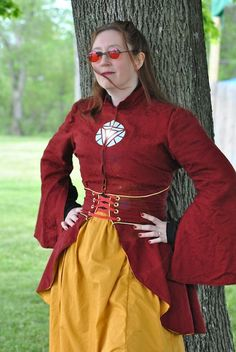 Most of the outfit (shirt, skirt, and jacket) was made by Storied Threads. The matching cincher skirt is by Corsair's Boutique. And photographs were taken by Lauren Dubois.
