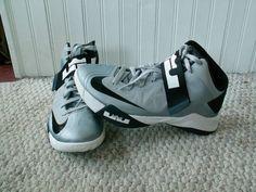 Nike 525017004 Zoom Soldier VI TB Men's Basketball Shoes Wolf Grey/Black-White 8 #Nike #BasketballShoes